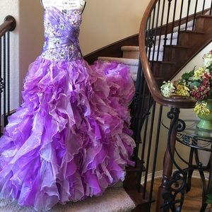 Marys Bridal Orchid Quinceanera Prom Dress NWT 20